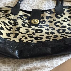 Large Leather and pony hair bag